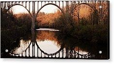 Bridge Over The River Cuyahoga Acrylic Print by Patricia Januszkiewicz