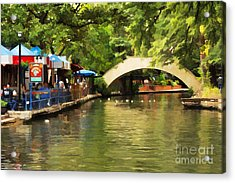 Bridge Over The Riverwalk Acrylic Print