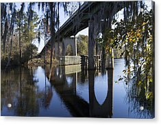 Bridge Over The Waccamaw On An Autumn Afternoon Acrylic Print