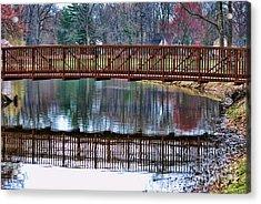 Bridge Over Water Acrylic Print by Paul Ward
