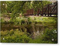 Bridge Over Wetlands Acrylic Print
