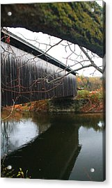 Acrylic Print featuring the photograph Bridge Reflection by Alicia Knust