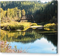 Bridge Reflections Acrylic Print by Curtis Stein