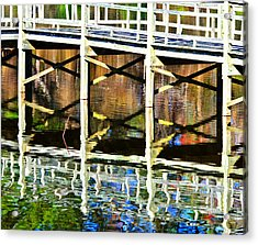 Acrylic Print featuring the photograph Bridge Reflections by John Harding