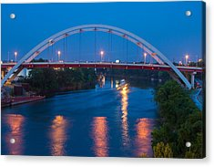 Bridge Reflections Acrylic Print by Robert Hebert
