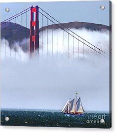 Bridge Sailing Acrylic Print