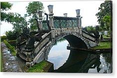 bridge side Bali Acrylic Print by Jack Edson Adams