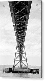 Bridge Span Acrylic Print by Charmian Vistaunet