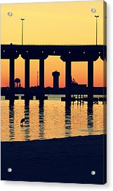 Bridge Sunset Acrylic Print by Hillery Bosarge