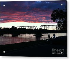 Bridge Sunset In June Acrylic Print