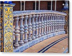 Bridge Tiling Plaza De Espana Seville Acrylic Print by Joan Carroll