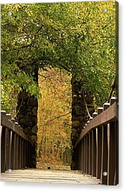 Bridge To Enchantment Acrylic Print by Kimberly Davidson