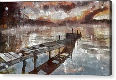 Acrylic Print featuring the painting Bridge To Eternity by Georgi Dimitrov