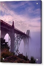 Bridge To Fog Acrylic Print