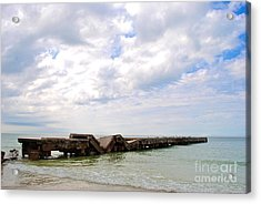 Acrylic Print featuring the photograph Bridge To Nowhere by Margie Amberge
