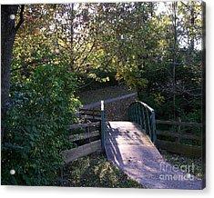 Bridge To Nowhere Acrylic Print by Mel Steinhauer