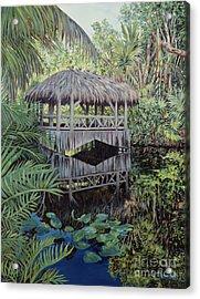 Bridge To Paradise Acrylic Print by Danielle  Perry