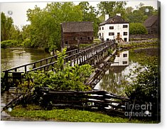 Acrylic Print featuring the photograph Bridge To Philipsburg Manor Mill House by Jerry Cowart