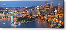 Bridge To The Pittsburgh Skyline Acrylic Print