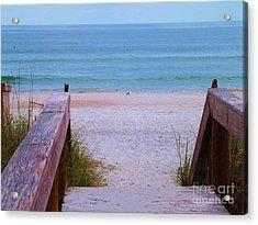 Bridge To The Sea Acrylic Print by Brigitte Emme