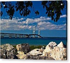 Bridge To The U.p. Acrylic Print by Nick Zelinsky