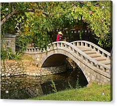Bridge Walker China Acrylic Print by Sally Ross