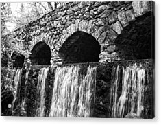 Bridge Water Acrylic Print by Kenneth Feliciano
