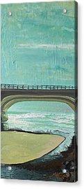 Bridge Where Waters Meet Acrylic Print by Joseph Demaree