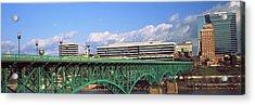 Bridge With Buildings Acrylic Print