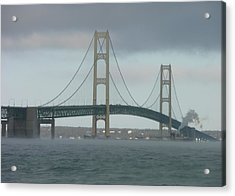 Bridge With Haze Acrylic Print
