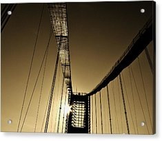 Bridge Work Acrylic Print by Robert Geary