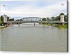 Bridges In Waco Tx Acrylic Print by Christine Till