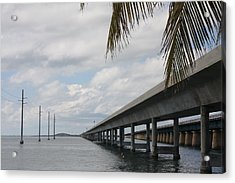 Bridges Over The Sea Acrylic Print by Christiane Schulze Art And Photography