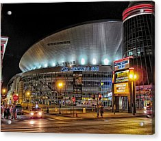Bridgestone Arena - Nashville Acrylic Print by Mountain Dreams