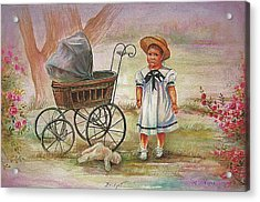 Acrylic Print featuring the painting Bridget by Patricia Schneider Mitchell