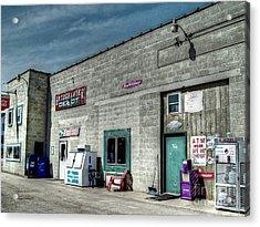 Bridgewater Depot Acrylic Print by MJ Olsen