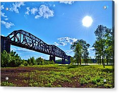 Bridgework Acrylic Print by Paul Hennrich