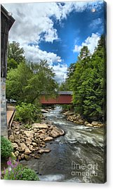 Bridging Slippery Rock Creek Acrylic Print
