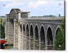 Bridging The Boyne Acrylic Print by Charlie and Norma Brock