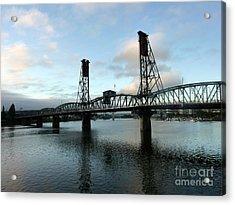 Bridging The River Acrylic Print by Susan Garren