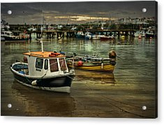 Acrylic Print featuring the photograph Bridlington Reflections by Brian Tarr