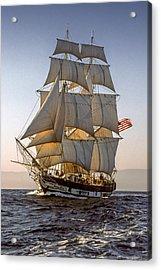 Brig Pilgrim Off Santa Barbara Acrylic Print