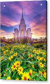Brigham City Temple Acrylic Print by Dustin  LeFevre