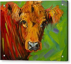 Bright And Beautiful Cow Acrylic Print