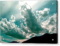 Bright Clouds Acrylic Print by Mavis Reid Nugent