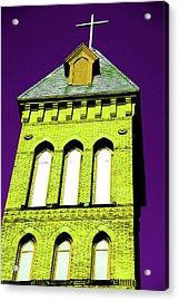 Bright Cross Tower Acrylic Print by Karol Livote
