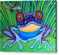 Bright Eyed Frog Acrylic Print by Nick Gustafson