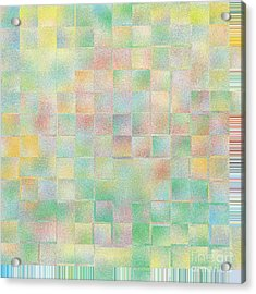 Bright Flowers On A Blue Day Acrylic Print by Lorraine Heath
