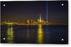 Bright Freedom Tower Acrylic Print by Chris Halford