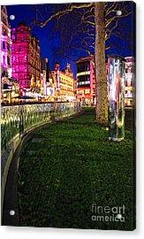 Bright Lights Of London Acrylic Print by Jasna Buncic